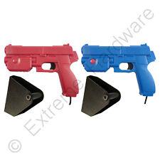 2 x Pack Ultimarc AimTrak Red/Blue Arcade Recoil Light Guns & Side Holsters PC