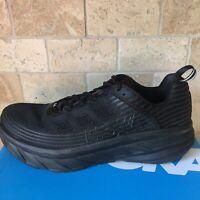 Men's Hoka One One Bondi 6 Running Shoes 1019269 Black Regular Sz - New With Box