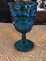 "Ashburton Bermuda Blue Goblet by Westmoreland Glass 6.25"" Euc"
