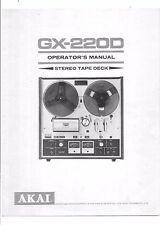 Akai  Bedienungsanleitung user manual owners manual  für GX-220 D