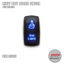 BLUE Laser Etched LED Rocker Switch Dual Light 20A 12V ON / OFF - REAR LIGHTS