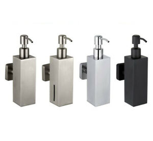 1pcs Stainless Steel Bathroom Soap Dispenser Liquid Shampoo Wall Mount Holder D5