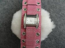 New Claire's Quartz Ladies Watch with a Pink Swede Band