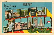 North Carolina, NC, Murphy, Greetings From Linen Postcard