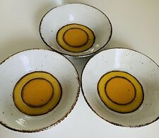 Mid-Century Modern Stonehenge Midwinter Sun Set of 3 Coupe Cereal Bowls