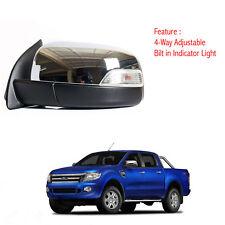 Left Side Power Door Mirror Chrome Fit Ford Ranger T6 Pickup 2012-2014
