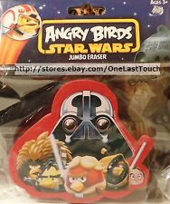 ANGRY BIRDS Red w/STAR WARS Characters JUMBO ERASER Cool for School NEW!