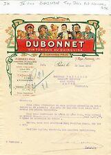 Paris IV ème 7 Rue Mornay - Exceptionnelle Entête Art Nouveau Dubonnet de 1908