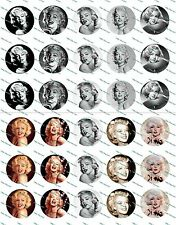 "30 Precut 1"" Marilyn Monroe Bottle cap Image Set 1"