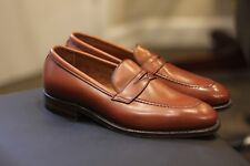 d10cd12747a Alden 3556 Plaza Tan Brown Leather Penny Loafers Shoes Made in USA Size 10 D