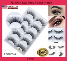 NEW 5Pair 3D Mink False Eyelashes Wispy Cross Long Thick Soft Fake Eye Lashes US