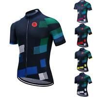 Kurzarm Radtrikot Top Herren Radsport Rennrad Trikot Fahrradshirt 5-Farbig