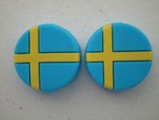 2 Sweden Flags Swedish Tennis Vibration Shock Absorber Dampener Borg Edberg