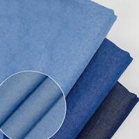100*150CM Hemden Jeans Denim Stoff Sommer Dünn DIY Kleidung Patchwork Nähen