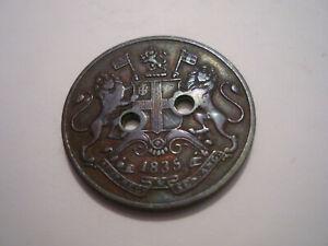 Ost Indien, East India, One Quarte Anna, 1835, Münze mit 2 Löchern