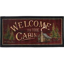 """2x4 (20"""" x 44"""" )  Lodge Cabin Cottage Welcome Area Rug"""