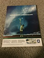 Vintage 1988 CONVERSE ENERGY WAVE GSV Tennis Shoes Poster Print Ad JIMMY CONNORS