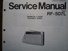 NATIONAL Panasonic RF-507L Radio Portatile Manuale di servizio diagramma di cablaggio parti
