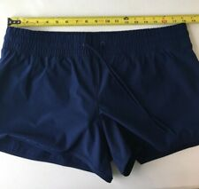"""New listing Lands End Wmn's sz.14 NWT 3"""" Inseam Swim Board Shorts Lined Drawstring Navy Blue"""