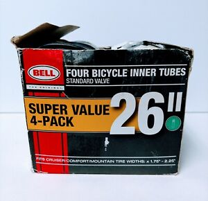 "Bell 26"" Bicycle Inner Tubes (4-Pack) Standard Valve - Widths 1.75""- 2.25"""