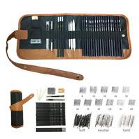 29Pcs Drawing Sketch Pencil Set Charcoal Eraser Art Beginner Painting Kit