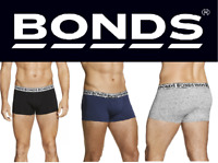 MENS BONDS FIT TRUNK TRUNKS UNDERWEAR SHORTS BOXER BLACK GREY NAVY S M L XL 2XL