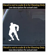 Hockey player skating shot 6 inch decal 4 car truck home laptop fun more SPT_54