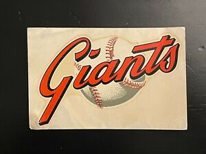 "1960's Vintage HYA LAC San Francisco Giants Window Sign 3.75"" X 5.75"""