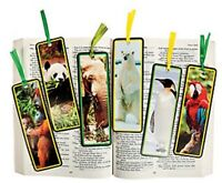 Pack of 12 - Animal Wildlife Bookmarks - Party Loot Bag Fillers