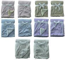 Newborn Soft Baby Blanket Crib Pram Cot Boys Girls Circle Cotton Fleece Fur Back