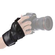 TELECAMERA Professionale Mano Polso Cinturino Grip Per DSLR Canon Nikon Pentax Sony camer