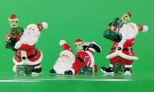 Fitz and Floyd Holiday Home-That'S A Wrap Santa Tublers-Figurines, Set of 3
