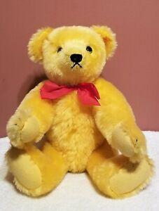"Steiff 1909 Replica Gold Teddy Bear, 0165/38, Made 1983, 14"" tall, Mohair, TA"