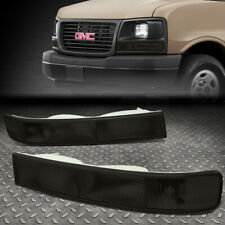 FOR 03-20 CHEVY EXPRESS/GMC SAVANA SMOKED SIDE MARKER BUMPER LIGHT SIGNAL LAMPS