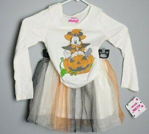 Disney Junior Minnie Mouse Halloween T-shirt & Tutu Skirt Outfit Size 5T