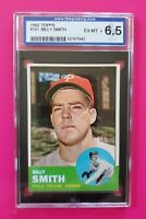 1963 Topps #241 BILLY SMITH (Phillies) **ISA 6.5 (EX-MT+)** WELL CENTERED! L@@K!
