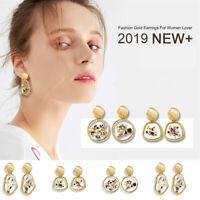 Women Boho Natural Shell Conch Earrings Pendant Statement Drop Dangle Jewelry