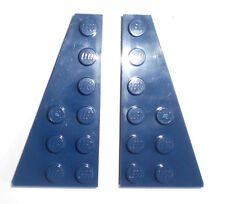 JEU JOUET ENFANT  LEGO * Lot 2 BRIQUES PLATES AILES  2 X 6 - BLEU FONCÉ  *