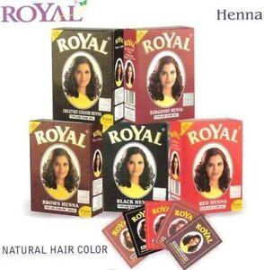 Royal Henna Mehendi Powder Hair Dye 6x 10 g sachet