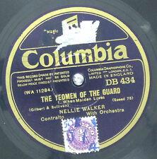 "THE YEOMEN OF THE GUARD-2 x 10"" 78rpm-Columbia-DB 434-DB 435"