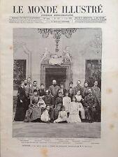 LE MONDE ILLUSTRE 1892 N 1836 LA FAMILLE ROYALE DU DANEMARK AU GRAND COMPLET