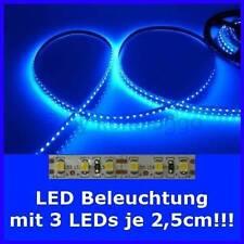 S505 LED Beleuchtung nach Maß von 5cm bis 500cm BLAU je 3 SMD LEDs auf 2,5cm