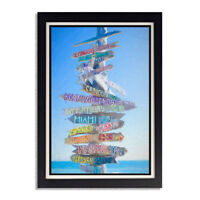 Key West Directional Sign Post Glossy Poster 11in x 17in 24in x 36in