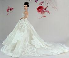 Weiß Fashionistas Kleidung Prinzessinnen Kleider Für Barbie Puppe S243