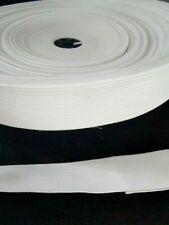 BONADEX  PROFESSIONAL WAISTBAND ELASTIC 25mm  IN WHITE/ 7 metres