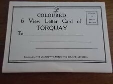 Collection Set Coloured 6 view letter card of TORQUAY DEVON in Colour lansdowne
