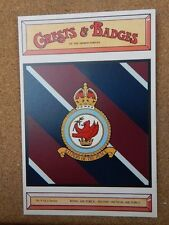 Royal Airforce Second Tactical Crests & Badges of  the Armed services Postcard