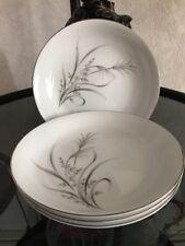 CastleCourt Fine China Wheat Spray Pattern 4 Soup Bowls /Japan