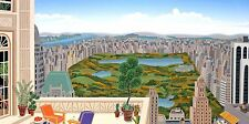 Thomas McKnight - Central Park Panorama, hand-signed serigraph