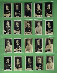 #UU1.   NEW ZEALAND SET 1927 RUGBY UNION FOOTBALLERS CIGARETTE CARDS